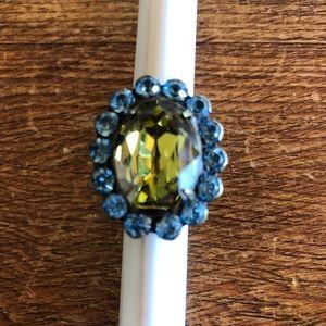Sorrelli Crystal Adjustable Oval Ring